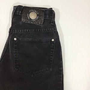 Vintage Black High Rise Versace Jeans.